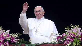 <> on April 5, 2015 in Vatican City, Vatican.