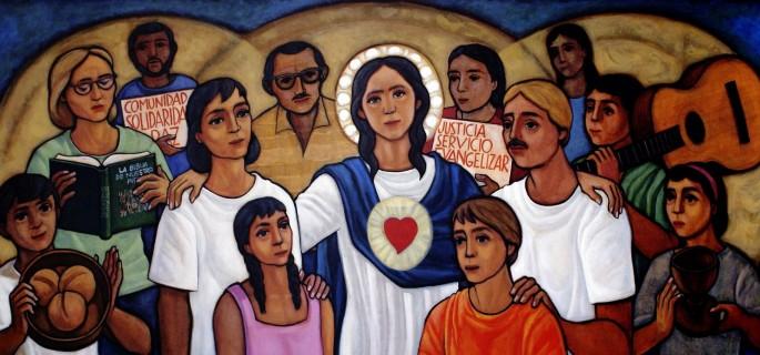 virgen-maria-con-su-pueblo-dibujo-teologia-de-la-liberacion