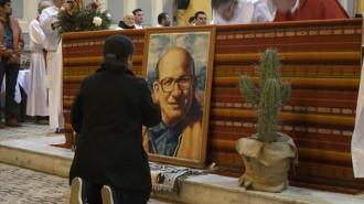 La Rioja capital, conmemoracion por el 40 aniversario del asesinato del obispo Enrrique Angelelli durante la dictadura militar.