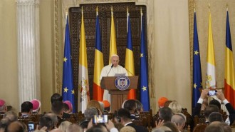 Papa-Francisco-Autoridades-Rumania-Andrea-Gagliarduci-31052019