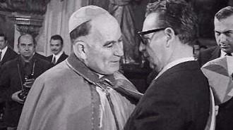 710918 Cardenal Silva Henriquez con Salvador Allende