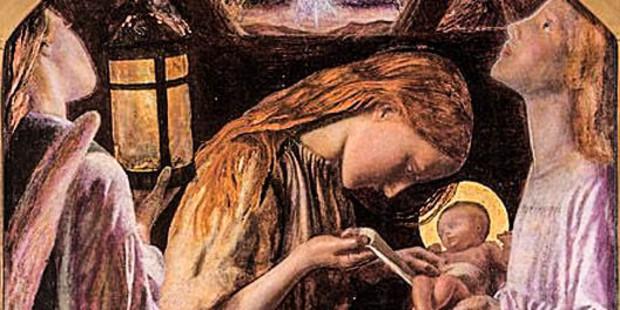 web3-mary-jesus-angels-nativity-scene-arthur-hughes-public-domain